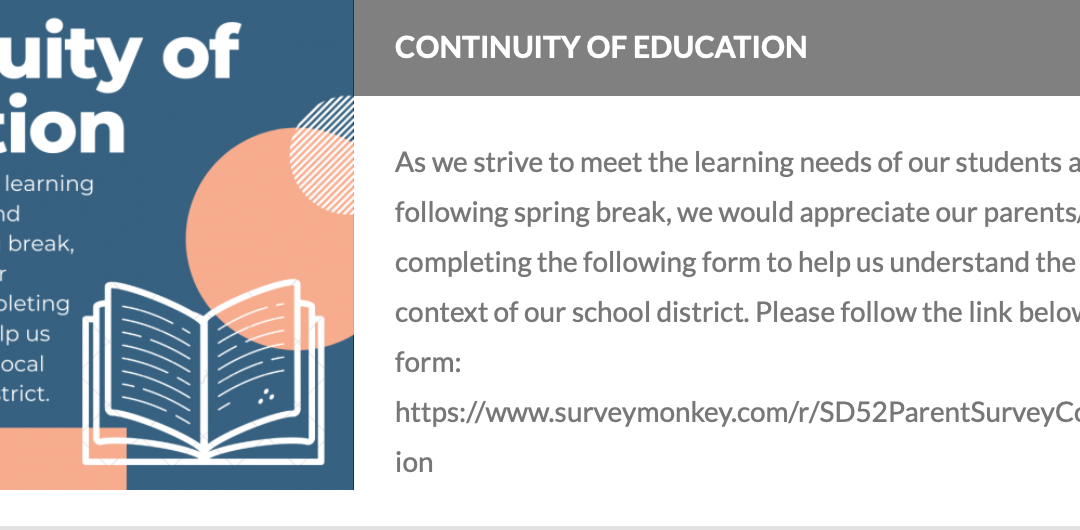 Continuity of Education Survey